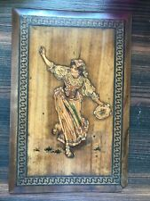 Sorrento ware wood panel  of a   dancer