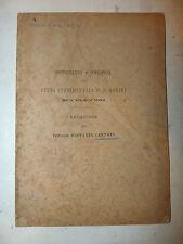 Cantoni: Relazione su studi sperimentali di P. Gorini sui Plutonij 1882 CHIMICA