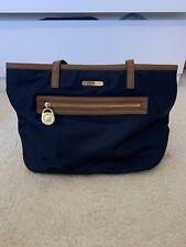 michael kors handbag tote navy and brown