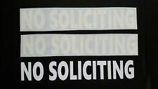 3 - NO SOLICITING DECAL/STICKER Office Home  WINDOW/DOOR