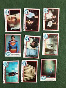 Lot of 9 Superman the Movie Trading cards Topps DC Comics lot #1