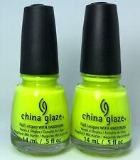 China Glaze Nail Polish CELTIC SUN 1015 Bright Highlighter Yellow Neon Lacquer