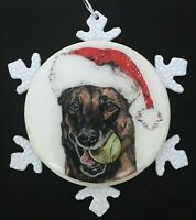 Belgian Malinois Dog Christmas Ornament