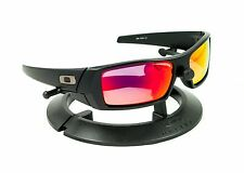 OAKLEY GASCAN MATTE BLACK FRAME / REVANT MIDNIGHT SUN RUBY RED POLARIZED CUSTOM