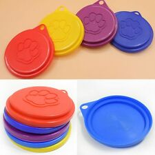 2PC Pet Food Can Cover Lid Dog Cat Pet Tin Plastic Reusable Storage Cap Top 88mm