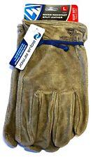 West Chester Split Cowhide Driver Gloves Water Resistant Work Gloves Size Medium