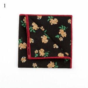 Hankerchief Scarves Vintage Cotton Hankies Pocket Square Handkerchiefs Flower