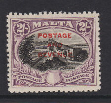 "MALTA - 1928 ""POSTAGE & REVENUE"" OVPT. 2/- BLACK & PURPLE MINT SG.188 (REF.D90)"