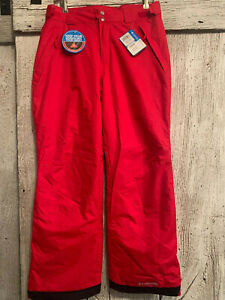 Mens Columbia Ski Pants Size Medium Red, New with tags