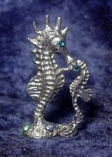 Pewter SEAHORSE and BABY accented with CRYSTALS