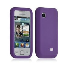 Housse coque étui silicone pour Samsung S5750 Wave 575 couleur violet