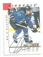 Chris Simon 1997-98 BAP Be A Player Autograph Signed #65 Washington Capitals