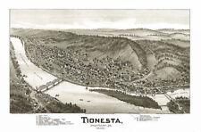 Tionesta PA c1896 map 24x16
