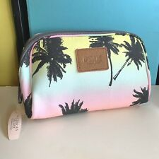 1 Victoria's Secret Cosmetic Beauty Bag New Palm Trees Green Yellow