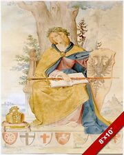 WOMAN GERMANIA W IMPERIAL SWORD REICHSADLER CREST PAINTING ART REAL CANVAS PRINT