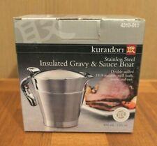 Kuraidori Insulated SS Gravy & Sauce Boat - NIB