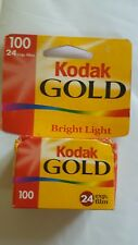 KODAK GOLD 100 Bright Light Color Print 35mm Film 1 Roll Hang Tag Box EXPIRED