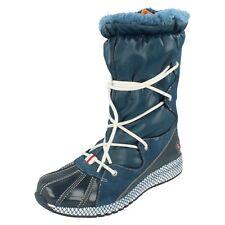 Mujer Rockport Azul Charol Leather / Ante Bota de nieve Zana talla UK 4.5 (7m)