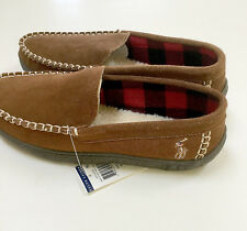 db7c24d05 Polo Ralph Lauren mens moccasin slippers brown suede pony size 11