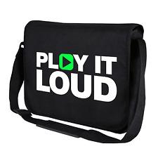 Play it Loud Music Musik DJ Clubbing Motiv Schwarz Umhängetasche Messenger Bag