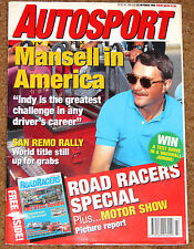 Autosport 22/10/92* FORMULA FORD FESTIVAL GUIDE - MAGNY COURS F3000- SAN REMO