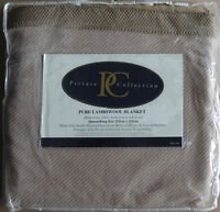 Australian Lamb's Wool Blanket by Private Collection | Coffee | Queen / King