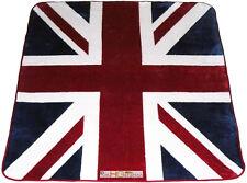 79x94 Queen United Kingdom Union Jack British Flag Great Britain England Blanket