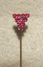 Antique Art Deco  Stickpin  ~  Gold and Rubies ~ Stickpin Box Included