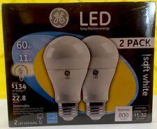 6 BULBS GE LED 11w = 60 watt a19 standard Soft White light bulb