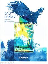 PUBLICITE ADVERTISING 066  2011  Sisley   parfum homme Eau d'Ikar