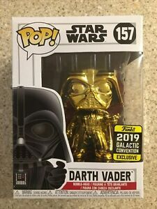Funko Pop! Star Wars: DARTH VADER #157 2019 GALACTIC CONVENTION EXCLUSIVE (GOLD)