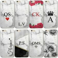 PERSONALISED INITIALS PHONE CASE MARBLE HARD CASE COVER FOR SAMSUNG S7/S8/S9