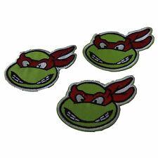 Teenage Mutant Ninja Turtles Rafael Face Embroidered Patch Set of 3