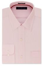 Tommy Hilfiger Men's Classic Fit Non-Iron Stripe Dress Shirt,Rose,17.5 34-35,$69