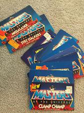 Vintage Masters of the Universe He-man Motu Lot, Partial Cardbacks, rare posters