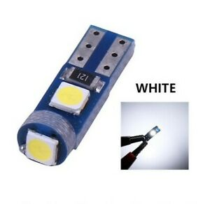 Ampoule T5 LED W1.2 Blanc Canbus Veilleuse SMD Miroirs lampe tableau bord