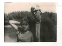 1970s portrait young man and woman near the lake Russian Vintage photo b