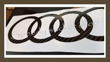 Anillos de Audi calcomanías de lado Pegatinas x2 en 2D Brillo 3 M Dinoc De Fibra De Carbono Vinilo