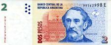 Argentine - Argentina billet neuf de 2 pesos pick 352 signature 3 UNC