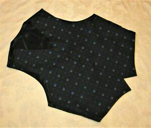 Gilet costume noir avec déco.fleurs NEUF