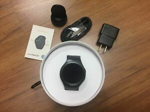 New Samsung Gear S2 SM-R730A 4G Dark Grey Black Smartwatch Unlocked ATT