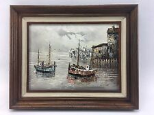 Vintage Original W. Jones Oil Painting Signed With Certificate Of Authentication