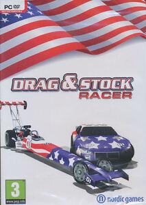 DRAG & STOCK RACER - US Seller - Car Racing Sim PC Game Windows Xp/Vista/7 - NEW