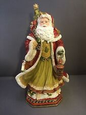 Fitz And Floyd Damask Holiday Santa 9� Musical Music Box O Come All Ye Faithful
