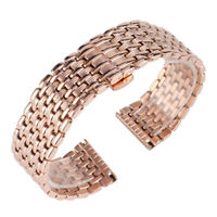 18/20/22mm Rose Gold Watch Band Women Strap Stainless Steel Bracelet Replacement