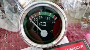 """24 Volt Voltmeter volt Gauge 2-1/16 """"/ 52mm, 24V W/Wire Harness"""