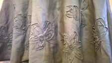 Ladies Monsoon linen skirt in olive green with flower detail, size 8