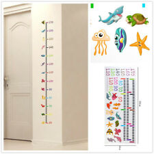 For Baby Room Removable Height Chart Measure Wall Sticker Decal Undersea Animal