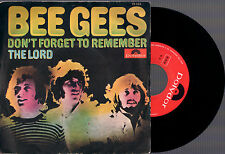 """BEE GEES DON'T FORGET TO REMEMBER + THE LORD 1969 POLYDOR ITALY 7""""45 GIRI"""