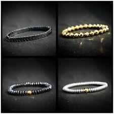 Spiritual Hematite Healing Stones Gemstone Men and Women Stretch Beads Bracelet